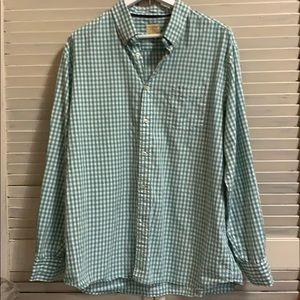 Tre Vero Long Sleeve Button Down Checkered Print